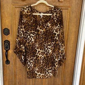 R. Rouge | leopard print flowy tunic